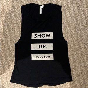 Black SHOW UP Peloton Tank